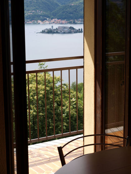 Casa Miralago - you can even see the island from the living room table!!