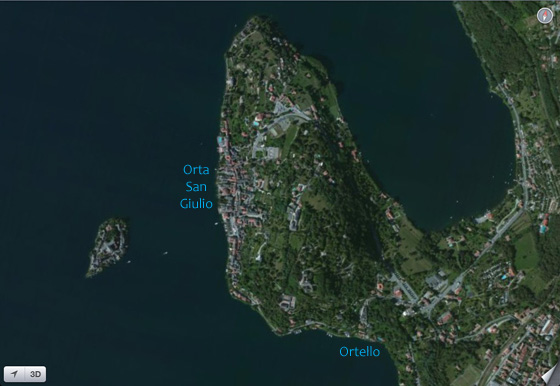 Aeral View from Google Maps (summer 2012) of the Orta Peninsular