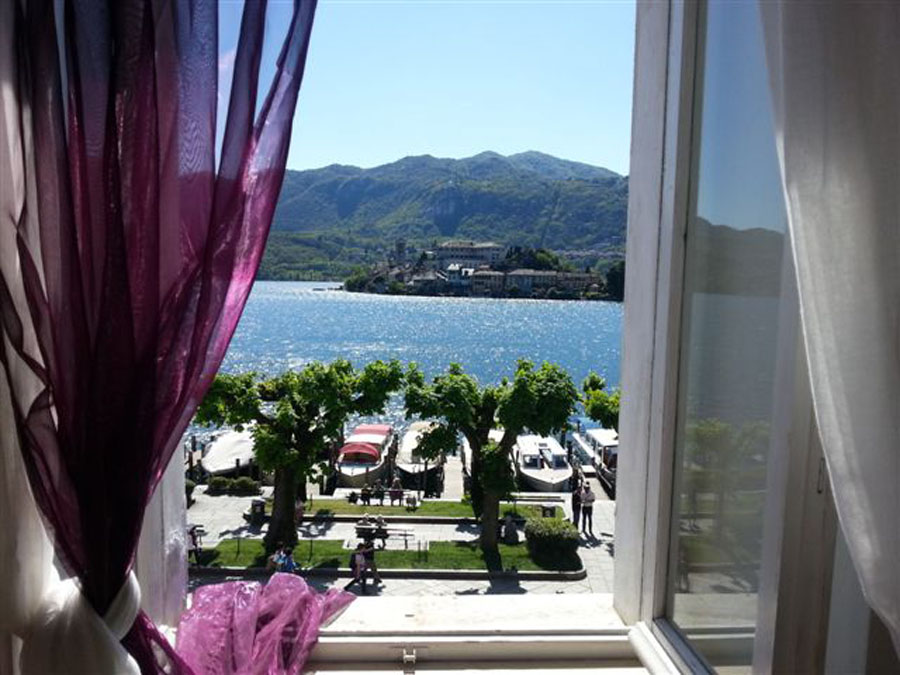 Stunning view from the bedroom of apartment 'Isola'