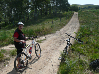 Mountain biking on the paths between the Mottarone and the Tre Montagnette