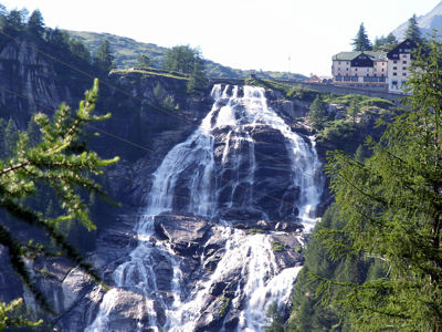 The Cascata del Toce in the Val Formazza, at 143 metres, Europe's second highest waterfall