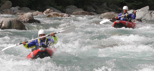 White water rafting in the Val Sesia. Click for more info.